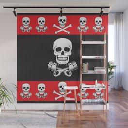 Skull n Pistons Classic Wall Mural