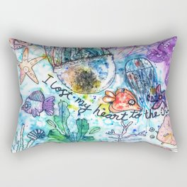 I Lost my Heart to the Ocean Rectangular Pillow