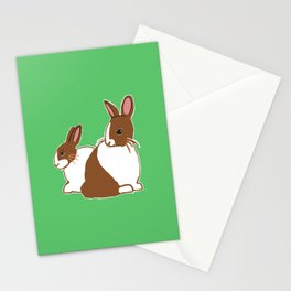 Chocolate Dutch Rabbits Stationery Cards