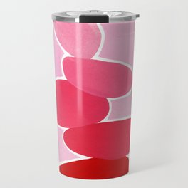 Rock balancing in pink Travel Mug