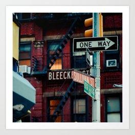 Bleecker & Sullivan Street Art Print
