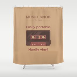 Cassettes. — Music Snob Tip #062 Shower Curtain