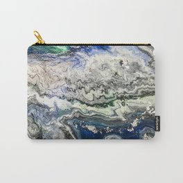 Black and green with white Space Ocean'20 abstract meditational art therapy  Carry-All Pouch