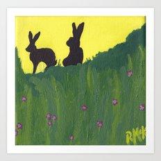 Young Peter Rabbit - Panel 3 Art Print