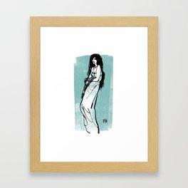 Darkness Girl Framed Art Print