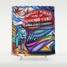 Chicago Montage 3 Shower Curtain