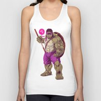 ninja turtle Tank Tops featuring Hulk Ninja Turtle by Mike Wrobel