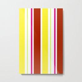 Stripes in colour 4 Metal Print