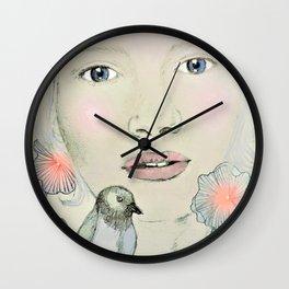emma in blush Wall Clock