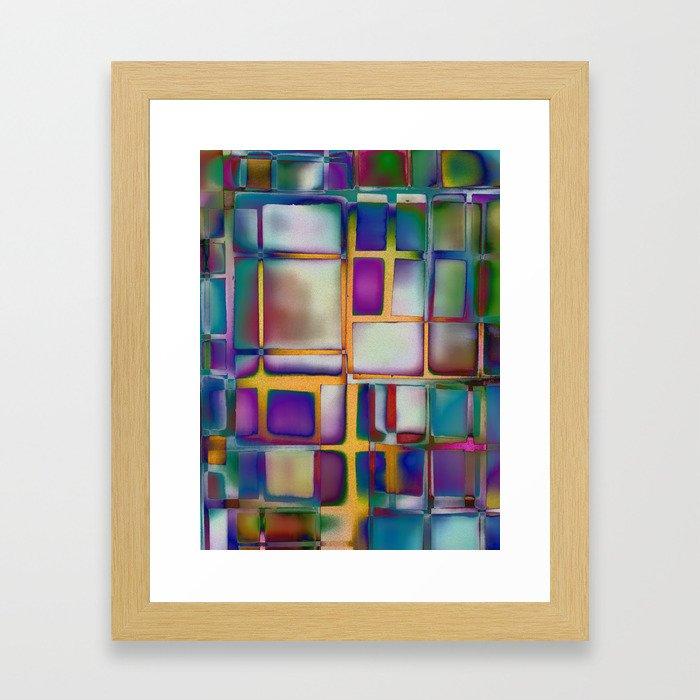 Colored Windows Framed Art Print