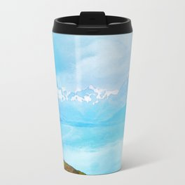 Lake Tekapo & Southern Alps in Watercolor Travel Mug