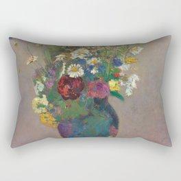 """Odilon Redon """"Vision - vase of flowers"""" Rectangular Pillow"""