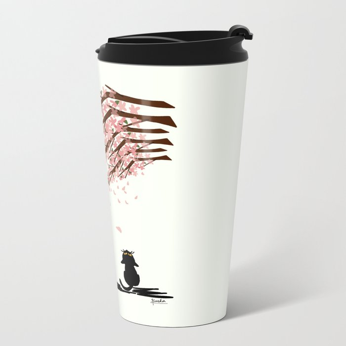 Sakura Metal Travel Mug