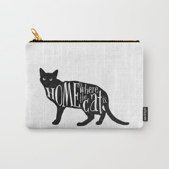 Home Is Where The Cat Is. Carry-All Pouch