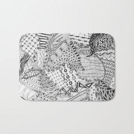 Zendoodle for Bonnie: Original Doodle Art with Tangle Patterns Bath Mat