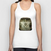 vw bus Tank Tops featuring VW Micro Bus  by BruceStanfieldArtist illustrator