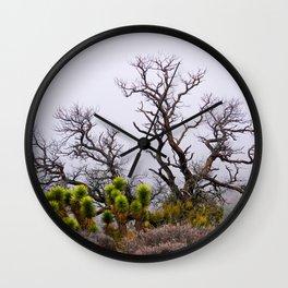 Misty Morning in Nevada Wall Clock