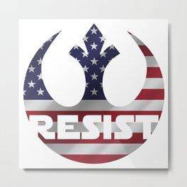USA Resistance Metal Print