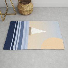 Geometric sailing design Rug