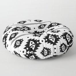 Black Aztec Tribal Diamonds Floor Pillow