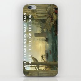 Seaport with the Embarkation of the Sun iPhone Skin