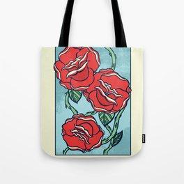 Growing Roses Tote Bag