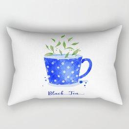 Black Tea in Watercolor Rectangular Pillow