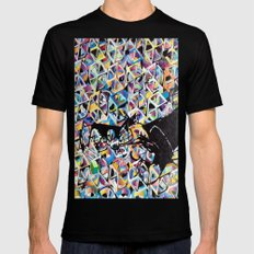 SYLVESTER/ CUBES Black Mens Fitted Tee MEDIUM