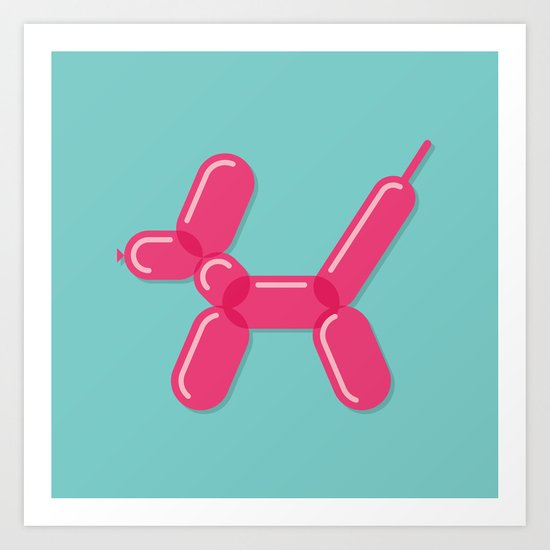 Balloon Dog Art Print