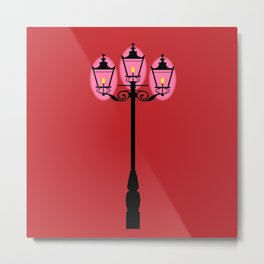 Victorian Street Light Metal Print