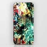 zebra iPhone & iPod Skins featuring ZEBRA by RIZA PEKER