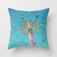 vertigo Throw Pillows featuring vertigo by Sylvia Cook Photography
