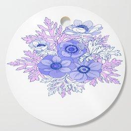 Blue anemones Cutting Board