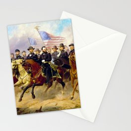 Grant and His Generals by Ole Peter Hansen Balling (1865) Stationery Cards
