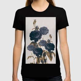 blue flowers T-shirt
