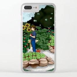 veggie garden for boy Clear iPhone Case