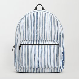Blue Watercolor Stripes Backpack