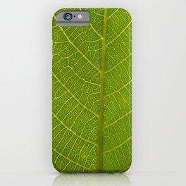 Realistic Vivid Green Leaf iPhone Case
