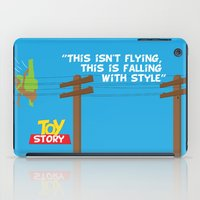 toy story iPad Cases featuring Toy Story - Falling With Style by Gary Wood