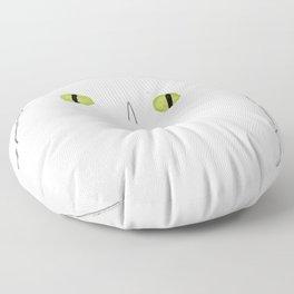 White Cat Face Floor Pillow