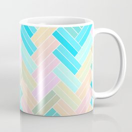 Ombre Pastel Herringbone pattern Coffee Mug
