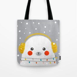 Christmas Baby Seal Tote Bag