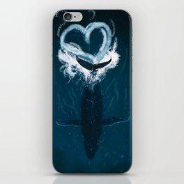 Whale Heart Splash iPhone Skin