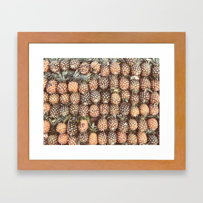 Pineapple Pattern Framed Art Print