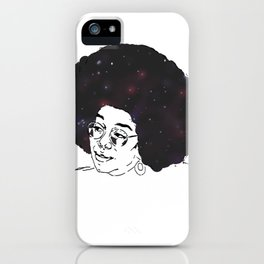 Laura Harrier - Stars and Galaxy iPhone Case