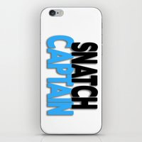 snatch iPhone & iPod Skins featuring Snatch Captain by Raunchy Ass Tees