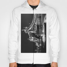 Tower Bridge And the Girl and dolphin Statue Hoody