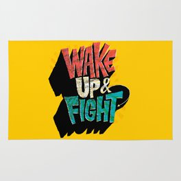Wake Up and Fight Rug