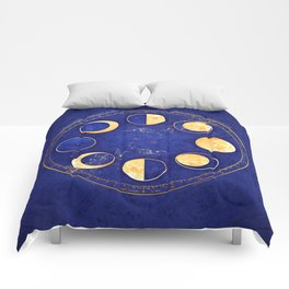 Celestial Atlas :: Lunar Phases Comforters