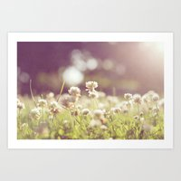 clover Art Prints featuring Clover by laughlovephoto